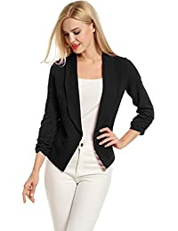 "<span class=""a-offscreen"">[Sponsored]</span>Women 3/4 Sleeve Blazer Open Front Cardigan Jacket Work Office Blazer"