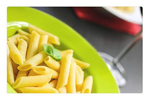Tree26 Indoor Floor Rug/Mat (23.6 x 15.7 Inch) - Rigatoni Pasta Noodles Food Meal Cuisine Cooked