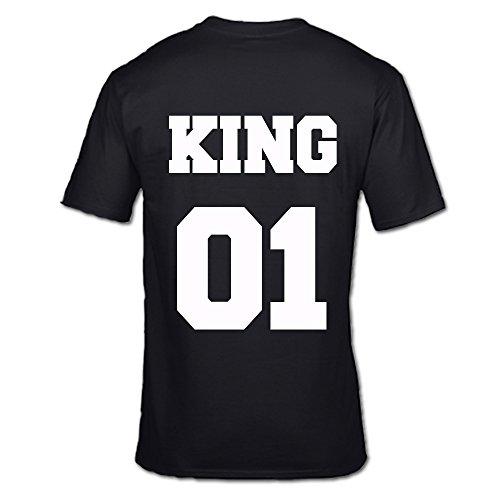 nbsp;Tshirts per BLACK sm regalo King xxl e di prima Regina San 01 KING nbsp; lui Valentino 01 edizione O TZTxBX7pwq