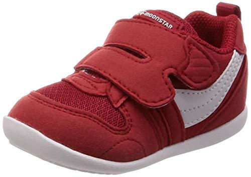 シーケンス洗練複製[ムーンスター] ベビーシューズ 4大機能 通園 運動会 靴 足育 足に優しい ゆったり MS B77S