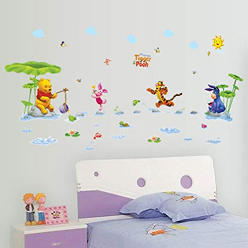 MaxLight Cartoon Winnie The Pooh Home Decor for Kids Room Decoration Wall Stickers Child Nursery Animals Decal Party Supply Poster