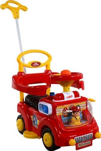 ARTI Correpasillos y andados para Bebes - Portador con Funcion Empuja -Tire del Juguete - Coche para Bebe - Coches para ninos - Baby Car Fire Engine 530W Red Ride-On Activity Toy