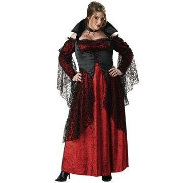 [Vampiress Costume - Plus Size 2X - Dress Size 20-22] (Red Vampiress Adult Costumes)