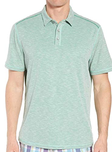 (Tommy Bahama Flip Tide Spectator Golf Polo Shirt (Color: Green Finch, Size XXL))