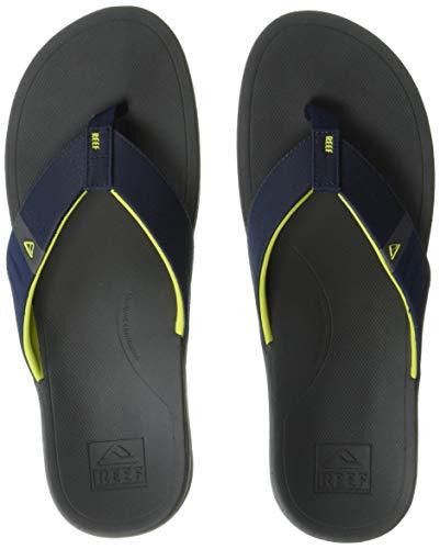 Reef Men's Ortho-Bounce Sport Sandal, Navy/Yellow, 110 M US