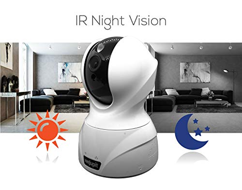 Security Camera 4MP WiFi Baby/Pet/Home Monitor - weJupit Wireless Indoor Pan/Tilt/Zoom IP Camera, Motion Detection, Two-Way Audio, Night Vision - Cloud Storage