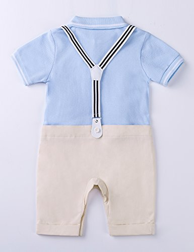 HeMa Island HMD Baby Boy Gentleman Polo T-Shirt Tuxedo Onesie Jumpsuit Suspenders Overalls Romper