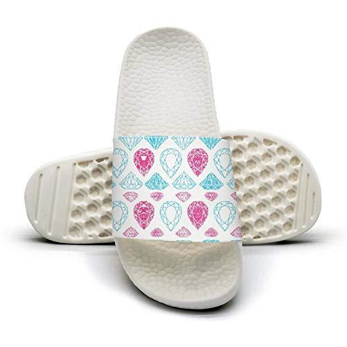 Guxefi Blue Red Diamond Texture Womens Outdoor Sandals Home Slides Performance Flip Flop Open Toe Sandals Outdoor b05347