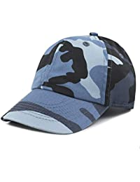 51aaa070bd7 Kids Washed Low Profile Cotton and Denim Plain Baseball Cap Hat