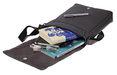 Greenburry Pure A4 Bolso bandolera piel 29 cm compartimento tablet Grey