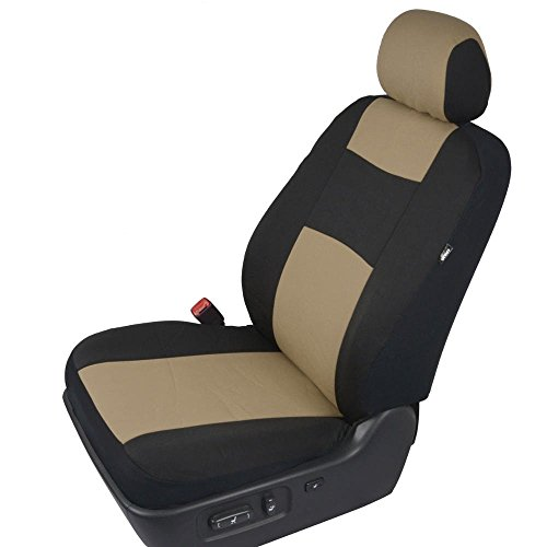 Polycloth Black Beige Car Seat Covers Easywrap Two Tone