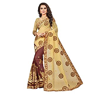 1 Stop Fashion Georgette Saree with Blouse Piece 414OpMyq5 2BL