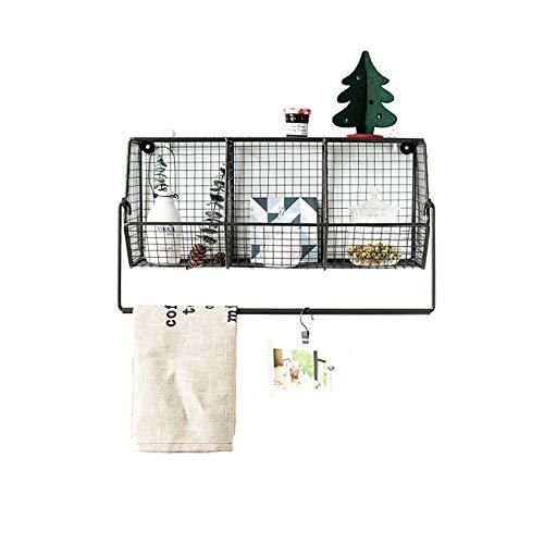 Metal Wire Basket Wall Mount, Diversified Vintage Storage Basket, Satin Nickel, 3 Tier Wall Storage Basket Organizer, for Bookshelf, Display Shelf
