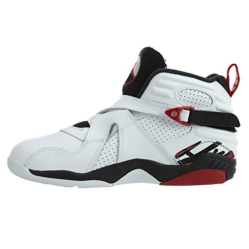 with mastercard for sale Jordan Nike Kids 8 Retro BP Basketball Shoe White/Gym Red/Black recommend cheap shopping online zQTNTta6Lm
