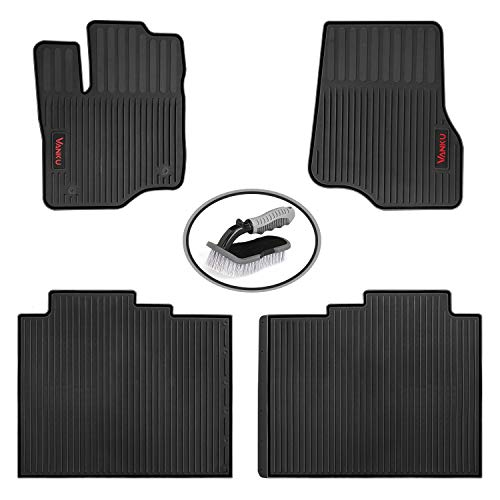 Vanku Custom Fit Car Floor Mats for Ford F-150 2015, 2016, 2017, 2018 All Weather Floor Liners Full Set 4 Pieces, Free Brush ()