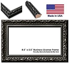 85 x 55 inch professional business license frame ornate black wood