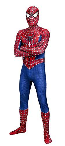Raimi Spider-Man Costume 3D Printed Halloween Cosplay Suit (M) ()