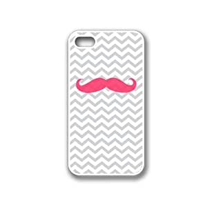 CellPowerCasesTM Pink Mustache iPhone 4 Case White - Fits iPhone 4 and iPhone 4S