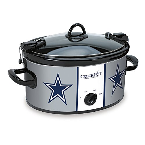 Crock-Pot Dallas Cowboys NFL 6-Quart Cook & Carry Slow Cooker
