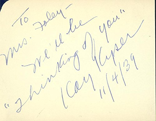 Kay Kyser – Autograph Note Signed 11/04/1939