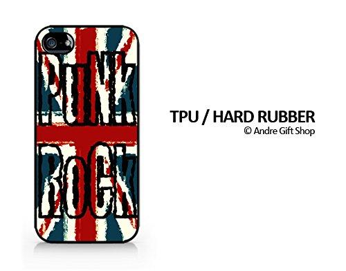 TPU / RUBBER Black Case - Punk Rock - England Flag Punk Rock - British Flag Punk Rock - iPhone 5/5S - (C) Andre Gift Shop (One Direction British Flag)