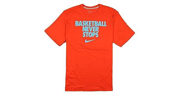 76e49ad4 Amazon.com: Nike Men's Basketball Never Stops Dri-FIT T-Shirt X-Large Orange  Photo Blue: Sports & Outdoors