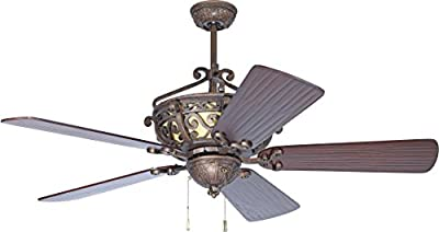 """Craftmade K10765 Ceiling Fan Motor with Blades Included, 52"""""""