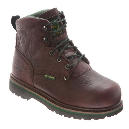 John Deere, Scarpe antinfortunistiche uomo, marrone (Brown/Dark Brown), 43,5 EU