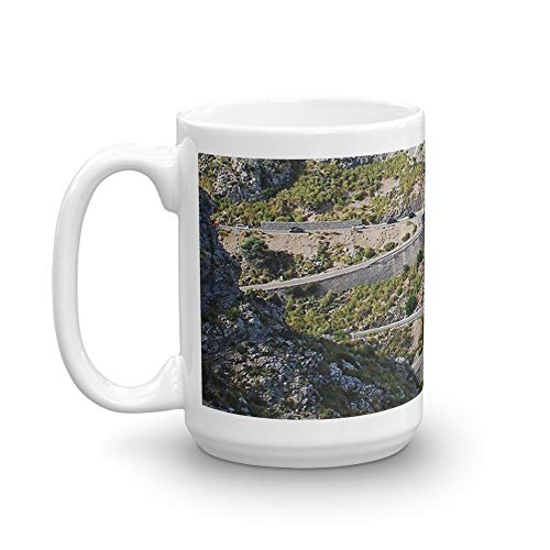(Road to Sa Calobra, Majorca. 15 Oz Ceramic Coffee Mug Also Makes A Great Tea Cup With Its Large, Easy to Grip C-handle)