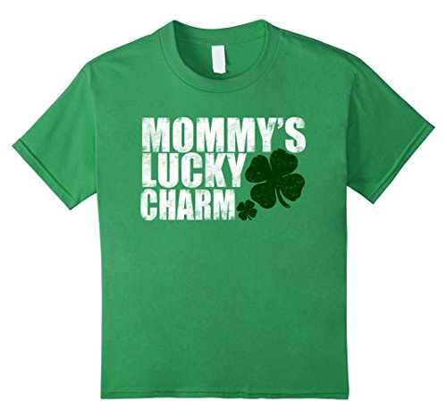 Mommy Charm - Kids Toddler St Patrick's Day Shirt Mommy's Lucky Charm T Shirt 4 Grass