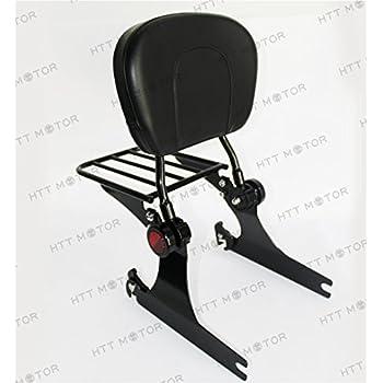 Adjustable Sissy Bar Passenger Backrest With Luggage Rack For Harley Dyna 02-05