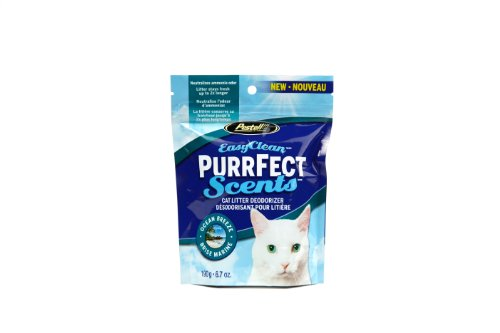 Easy Clean Purrfect Scents Ocean Breeze Scented Cat Litter Box Deodorizer,  6.7-Ounce (Clean Cat Litter Deodorizer)