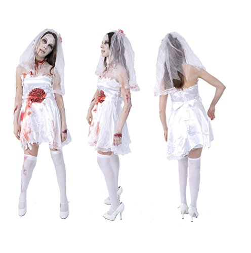 Zombie Collection - Zombie Bride Costume - Adult XS/Small (Walking Dead Bride Costume)