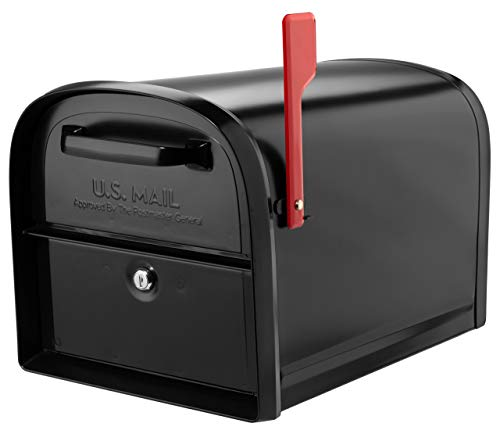 Architectural Mailboxes 6300B-10 Oasis 360 Locking Parcel Mailbox Extra Large Black - Locking Approved Usps Mailbox