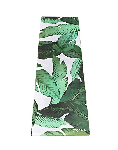Banana Leaf Yoga Mat – Beverly Hills Themed Banana Leaves Print – Palm Printed, Machine Washable, Printed, Non-Slip, Thick, Extra Long, Best Grip/Combo Mat, Great for Sweaty Practice For Sale