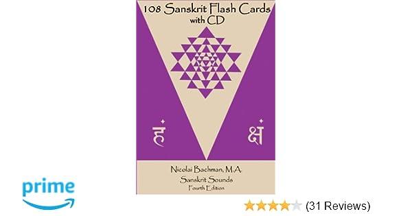 ddd1d62d80 108 Sanskrit Flash Cards  Nicolai Bachman MA MS