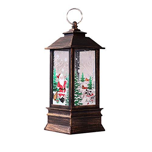 SUKEQ Christmas LED Tealight Candle Lantern Snowman Xmas Tree Lantern Christmas Party Decoration