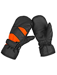 KRATARC Winter Kids Ski Mitten Waterproof Windproof Snow Glove Outdoors Sports Cold Weather Mittens for Boys Girls