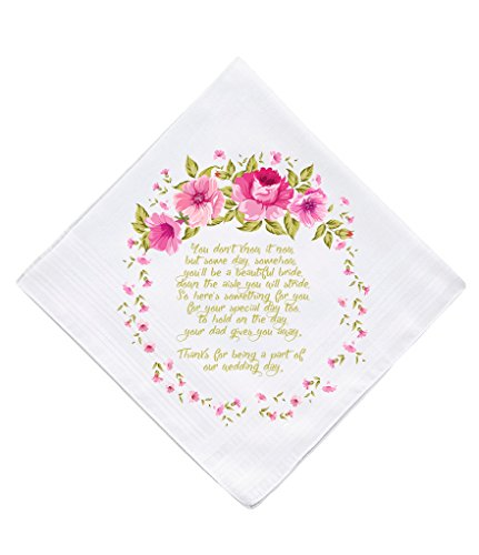 Flower Girl Wedding Gift Keepsake Hankie (Flower Girl Handkerchief)