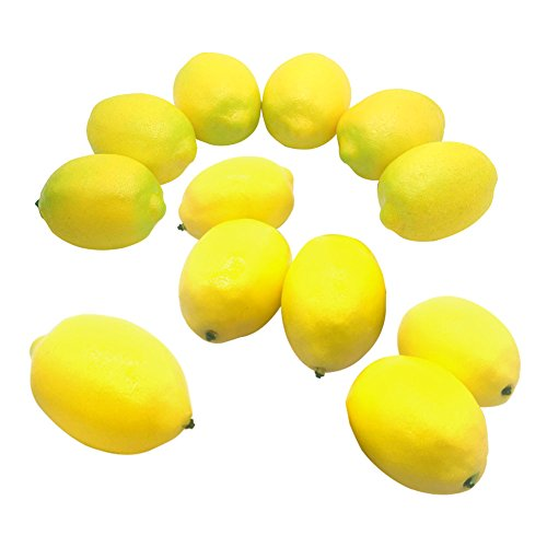 Maggift Artificial Fruits 12 pack,Decorative Fruit (12 pc yellow) by Maggift