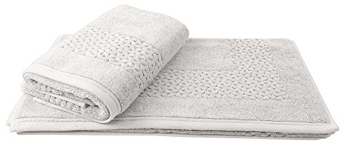 Classic Turkish Towels 2 Piece Bath Mat Set 20 x 33 inch - Soft Thick and Absorbent Luxury Bath Mats Made with 100% Turkish Cotton (Classic White 20 Piece)