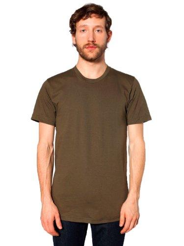 American Apparel Men's Fine Jersey Short Sleeve T-Shirt - Army / 2XL