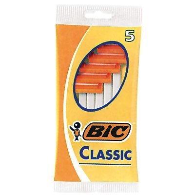 Bic Mens Classic Normal Disposable Shaver, 5 in a Pack (Pack of 12) 60 Razors Total
