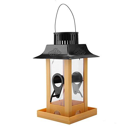 Solo Bird Feeder - Portable Solar Light Bird Table Station Hanging LED Light Bird Feeder Station Hanging Pigeon Crow Parrot Outdoor Balcony Bird Feeding