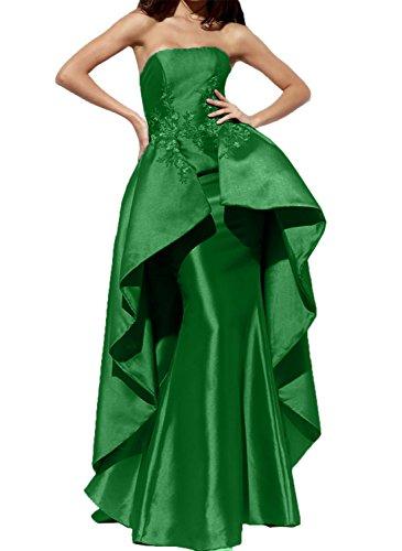 Jaeger La Abendkleider Schleppe Partykleider Braut 2018 Gruen mia Ballkleider Meerjungfrau Lang mit Satin A1qA4PU