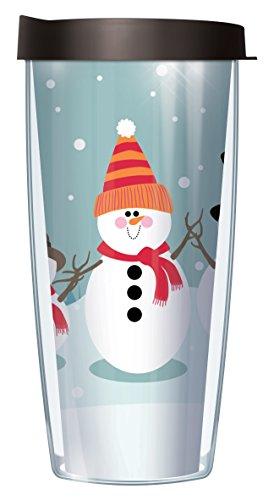 - Snowman Friends Wrap Traveler 16 Oz Tumbler Mug with Lid