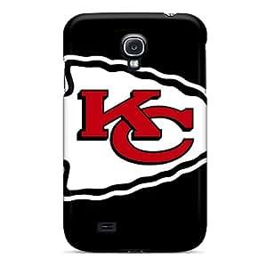 Samsung Galaxy S4 GlL13712zGil Allow Personal Design Lifelike Kansas City Chiefs Skin Shock-Absorbing Hard Phone Covers -InesWeldon