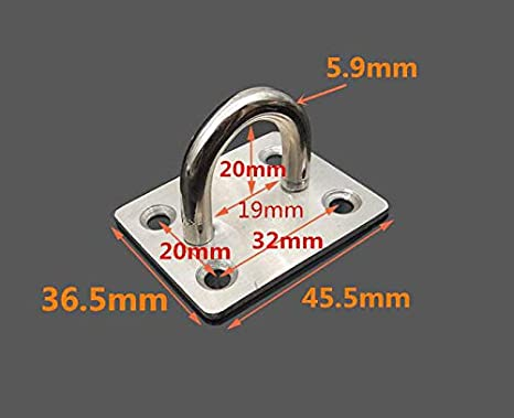binifiMux 2-Pack 304 Stainless Steel Padlock Hasp Door Clasp Gate Lock Silver 5 Inch
