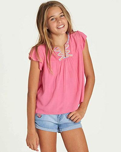 (Billabong Girls' Big Day Tee, Tahiti Pink, M)