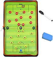GIMS Magnetic Soccer Tactic Coaching Board Football Coach Tool with 26 Magnets, Dry Erase Marker, Eraser - Fol